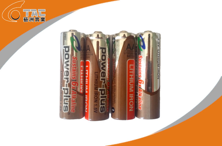 LiFeS2 1.5V 2700 mAh AA  L91 Lithium Iron Battery with Long cycle life